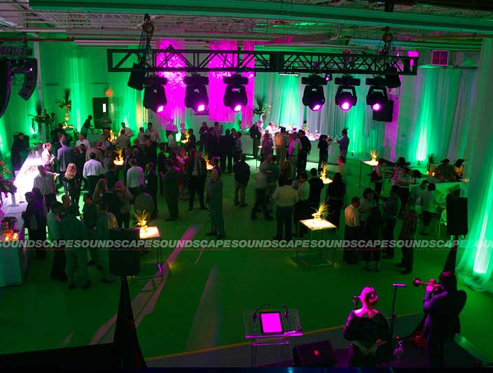 Soundscape corporate light set-up